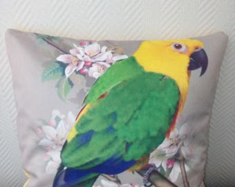 Exotic bird pillow