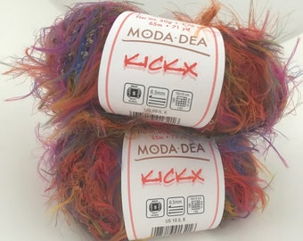 Yarn Moda Dea KickX Novelty Yarn // 2 Skeins