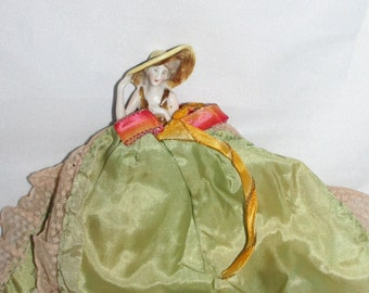 Small Antique Crinoline Doll - Rare - Needlecase /MEMsArtShop.
