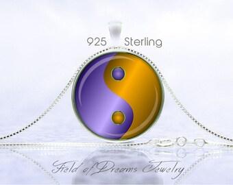 MODERN YIN YANG Necklace Yin Yang Jewelry Yin Yang Pendant Yin Yang Gift Yoga Jewelry Yoga Gift Sterling Necklace Buddhist Necklace Copper