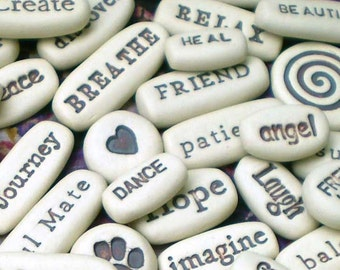 Any 200 Message Stones, Wholesale Pocket Words, Motivational Gifts, Party Favors, Wedding Favors, Memorial Gifts