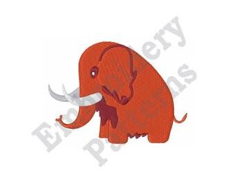 Woolly Mammoth - Machine Embroidery Design - 4 X 4 Hoop, Mammoth, Mastodon, Elephant