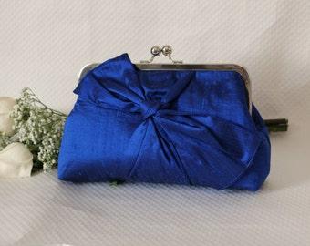Bridal Clutch - Wedding Clutch - Bridesmaids Clutch - Wedding Purse - Bridesmaid Gifts - Cobalt Blue Clutch - Samantha Clutch