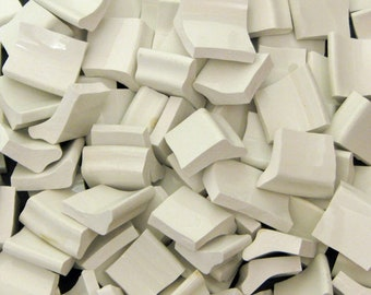 Mosaic Tiles Bright White Hand Cut China Free Standing Border Tiles