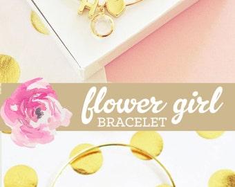 Flower Girl Bracelet Flower Girl Jewelry Flower Girl Gift Ideas Personalized Flower Girl Child Bracelet (EB3154) Little Girl Bracelet