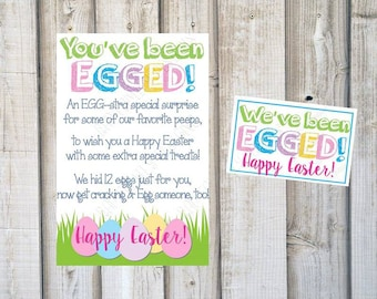 YOUVE BEEN EGGED, Bunny Scavenger Hunt, Printable Easter Egg Hunt, Easter Game, Easter Neighbors, Easter Gift, Instant Download