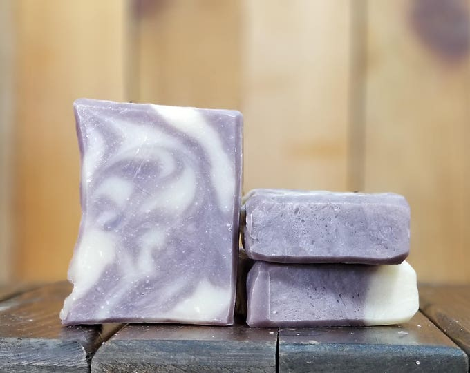 """Lavender Essential Oil Soap """"Purple Reign"""" -- All Natural, Handmade, Barely Scented, Hot Process , Vegetarian, Lavender Soap, Free Shipping"""