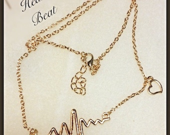 MWL Heart Beat Electrocardiogram Necklace