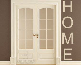 Home vinyl wall decal words, Vertical Wall Decals, Entryway decor, Living Room Wall Decor, House warming gifts, Kitchen Decorations