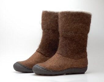 READY to SHIP size EU 40/ us women 9  Handmade brown Flat Shoes for Women