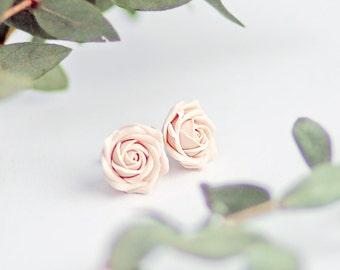 Ivory rose studs, rose studs, bridal rose studs, ecru rose studs, flower studs, ivory flower studs, ecru flower studs, bridal flower studs