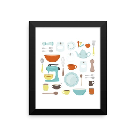 My Vintage Kitchen Framed Poster