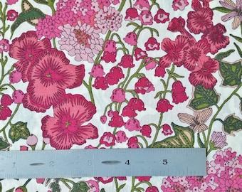 Liberty London Edna C Pink Tana Lawn Fabric Half Yard