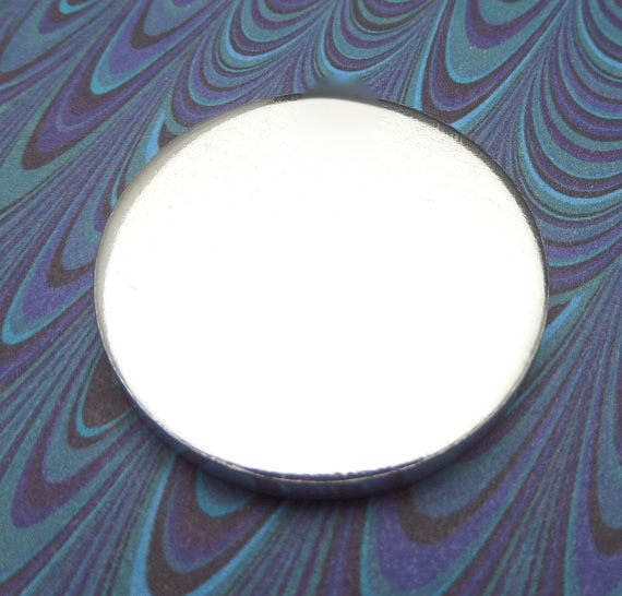 """5 Polished 1.25 Inch Discs 8 Gauge Pure Food Safe Metal Almost 1/4"""" Thick - 5 Discs"""