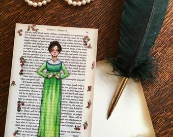 Jane Austen Art Postcards - Austen Heroines - Emma Woodhouse