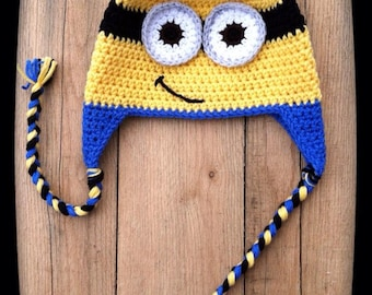 Minion Hat, Crochet Minion hat, crochet hats, baby minion hat, despicable me hat