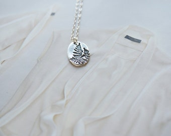 Mother's Day Gift, Sterling Silver Fern Necklace, Sterling Silver Leaf Necklace, Sterling Silver Necklace