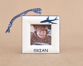 airplane ornament with name