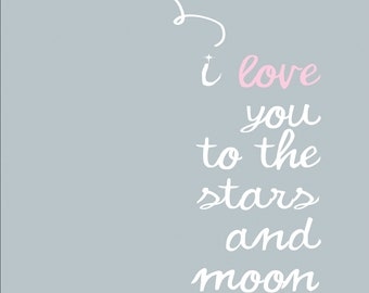 I Love you to the stars