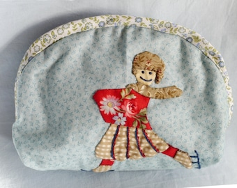 Package / kit / cover case / kit of beauty / makeup bag decorated with patchwork