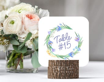 Blue Spring - Table Numbers (Style 13506)