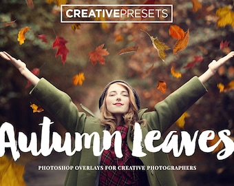 30 Autumn Falling Leaves Overlays for Photographers & Graphic Designers