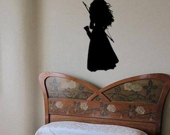 Merida Wall Decal-Nursery Decal-Merida Decal-Girls Room-Child's Room-Merida Decor-Nursery Decor-Tween Decor-Pre-School
