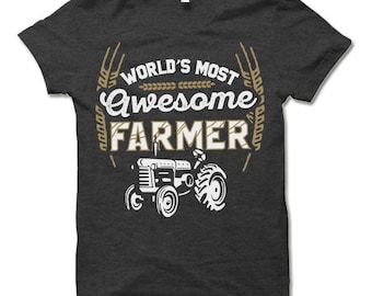 World's Most Awesome Farmer T Shirt.