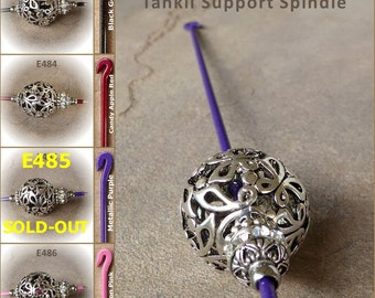 Tahkli Support Spindle - Filigree Bead - Black, Red, Purple, or Pink (483-486) FREE SHIPPING