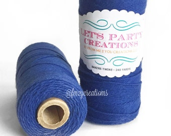 Solid NAVY BLUE Bakers Twine-Navy Divine Twine, Navy Bakers Twine (240 yards) Blue Twine, Blue Yarn, Blue Kniting, Blue Cord
