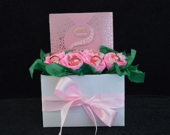 Pink Lindt Rose Box Bouquet