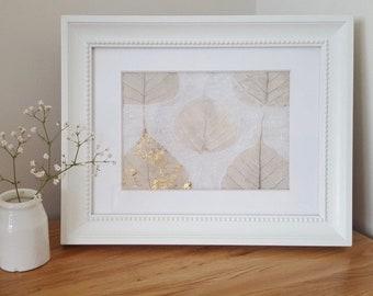 Skeleton leaf Textile Artwork