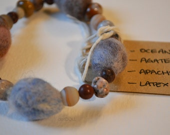 100% NATURAL - Mini Coral Drake Egg Bracelet