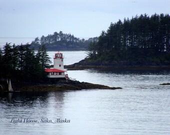 Sitka Alaska Lighthouse - Download - Art Photograph