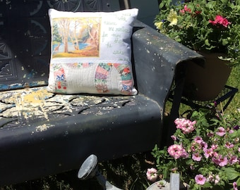 Vintage Paint By Number Pillow COVER