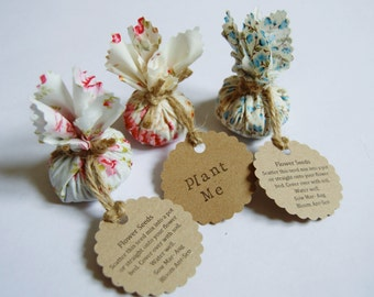 Wedding favours etsy set of 10 country garden flower seed wedding favours with hand stamped circular labels junglespirit Gallery