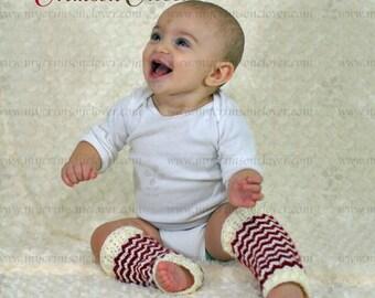 """Crochet Pattern Baby Leg Warmers """"Petite Shells Leg Warmers"""""""
