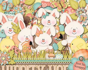 On Sale 50% Off Hippity Hop Digital Scrapbook Kit - Digital Scrapbooking