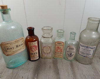 Vintage Bottles Collection of 6