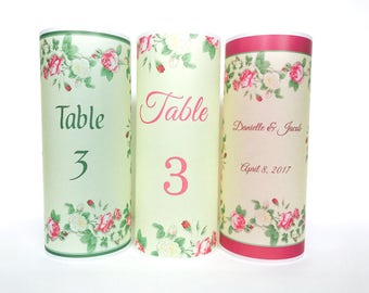 Garden table numbers,  Luminaries , Table decor, Rustic Wedding table, Vintage wedding, Garden wedding,table number wedding candle, luminary