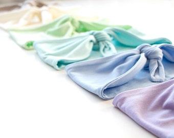 Tie Up Headscarf // Stretch Headband // Hair Wrap // Turban Headband // Yoga Hairband // Workout Headband // Pastel Headband