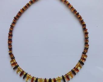 Amber Fringe Necklace