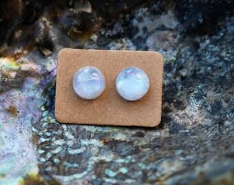 Genuine moonstone earrings rainbow moonstone jewelry gemstone earrings crystal jewelry moonstone studs post earrings silver studs