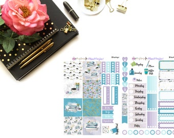 Macaroons Kit// MINI HP Weekly Kit// 2 sheets of planner stickers