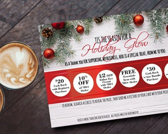 "7""x5"" Rodan + Fields / Scratch-Off Card / Rodan + Fields Christmas Specials / Rodan + Fields  / Holiday Promo / Digital Download"