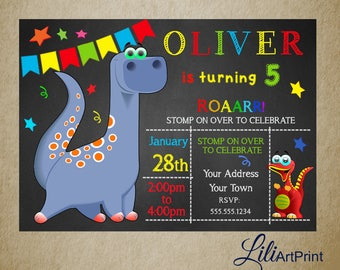 Dinosaur birthday invitation, Dinosaur invite, dinosaur birthday party, Digital file 4