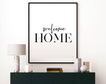welcome home sign etsy. Black Bedroom Furniture Sets. Home Design Ideas