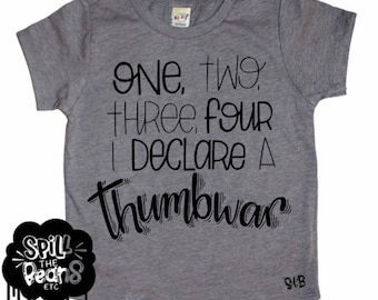 Thumb war, Funny Kids Shirt, Modern Kids, Kids Graphic Tee, Trendy Kids Clothes, Toddler shirt, boy clothes, girl clothes, twins tees, baby