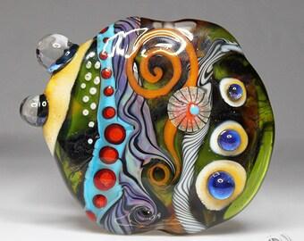 Handmade Lampwork Focal Bead OOAK