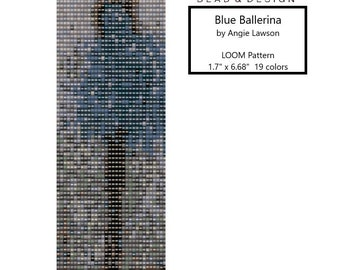 Blue Ballerina - LOOM Stitch Pattern Download - LOOM